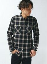 【WEGO】【BROWNY STANDARD】(M)ビエラオンブレチェックシャツ