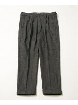 WOOL FLANNEL SLIM 2TUCK PANTS