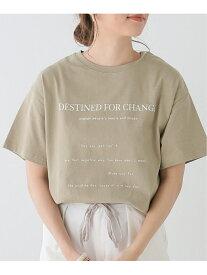 【SALE/64%OFF】frames RAY CASSIN ランダムロゴTシャツ レイカズン カットソー Tシャツ ベージュ カーキ オレンジ ホワイト