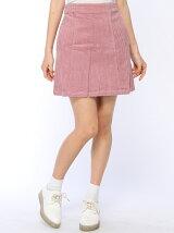 コーデュロイボックススカート
