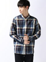 (M)吸汗速乾ロック チェックシャツ