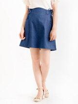 サイド編み上げAラインスカート