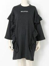 RUFFLE SWEAT DRESS