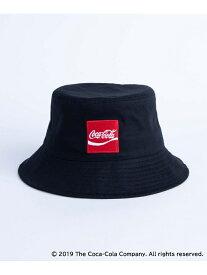 【SALE/44%OFF】WEGO (L)別注コカコーラバケットハット ウィゴー 帽子/ヘア小物 ハット ブラック ホワイト