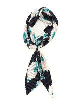 ビッグフラワープリントプリーツスカーフ