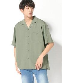 GLOBAL WORK (M)カイテキオープンカラーシャツ グローバルワーク シャツ/ブラウス 半袖シャツ グリーン ベージュ ブラウン ブラック ブルー レッド【送料無料】
