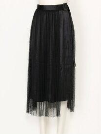 titty&Co. チュールレイヤードスカート ティティー アンド コー スカート プリーツスカート/ギャザースカート ブラック【送料無料】