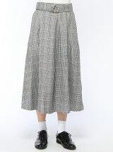 RETRO GIRL/丸カングレンチェックフレア SK