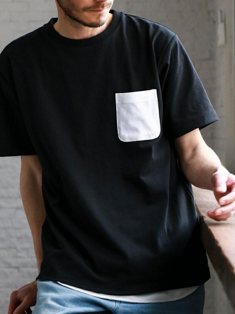 UNITED ARROWS green label relaxing 【WEB限定】SC ★★ドライ コンビPKT クルー Tシャツ <機能性生地> 吸水速乾 ユナイテッドアローズ グリーンレーベルリラクシン