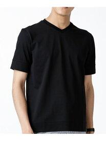 【SALE/20%OFF】nano・universe FORMALJERSEYVネックTシャツ ナノユニバース カットソー Tシャツ ブラック ネイビー グレー ホワイト【送料無料】