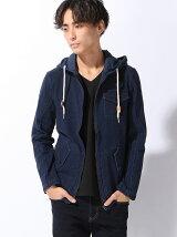(M)ニットデニムパーカージャケット