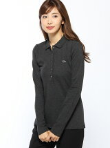 (W)ストレッチ ポロシャツ (長袖)