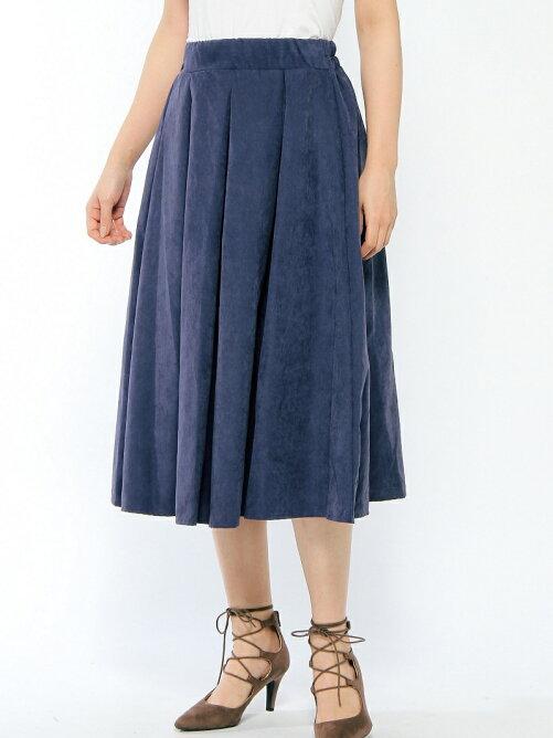 タックギャザーミディスカート