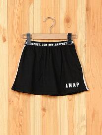 【SALE/10%OFF】ANAP KIDS ANAP KIDS/ミニ裏毛サイドラインSK アナップ スカート キッズスカート ブラック グレー