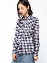 (W)フランネルタータンシャツ