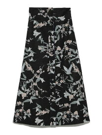 【SALE/45%OFF】FURFUR 花鳥風月スカート ファーファー スカート フレアスカート ブラック ブルー【送料無料】