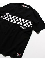 BEN DAVIS/CHECKER FLAG PRINT TEE