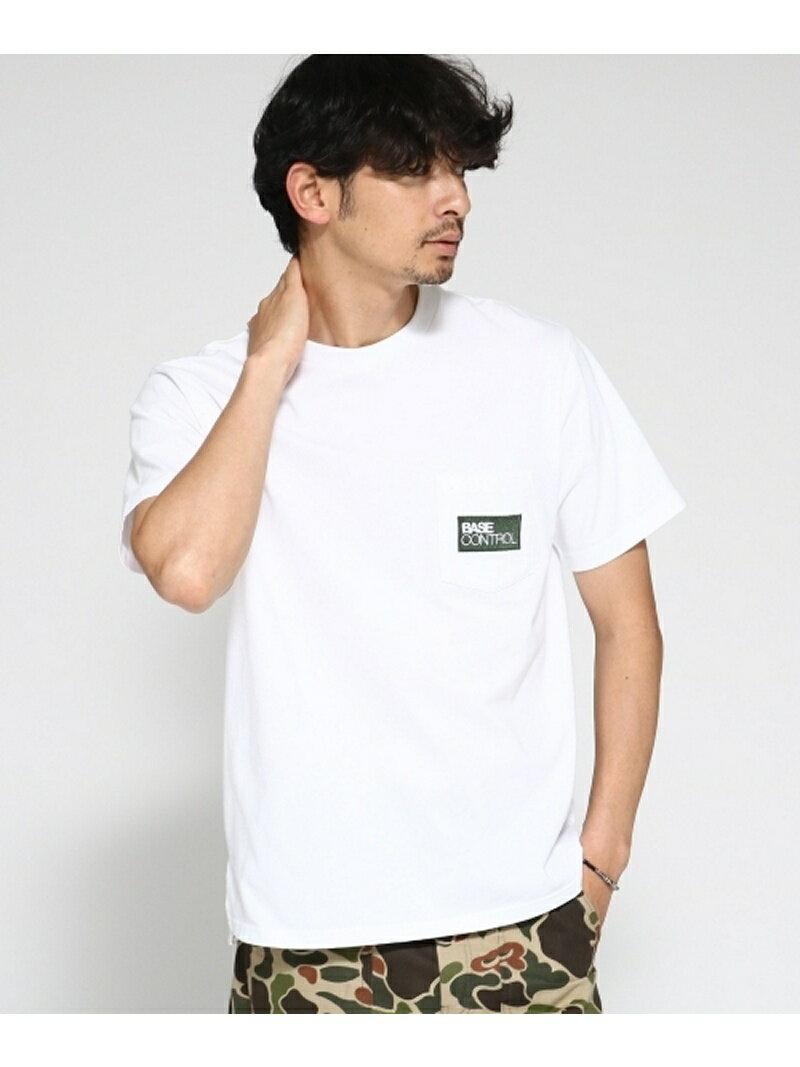 BASE CONTROL Tシャツ メンズ 胸ポケット刺繍 クラシックロゴTシャツ ベース ステーション カットソー