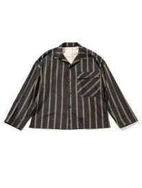【SALE/50%OFF】Blonde rush ストライプビッグシャツ ナノユニバース シャツ/ブラウス シャツ/ブラウスその他 パープル【送料無料】