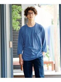 【SALE/20%OFF】SPENDY'S Store 丸首七分何枚あっても便利!ポケットTシャツ スペンディーズストア カットソー Tシャツ ホワイト ブラック ピンク ネイビー ブルー イエロー グレー レッド