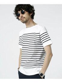 【SALE/40%OFF】nano・universe 米綿パネルボーダーバスクシャツS/S ナノユニバース カットソー【RBA_S】【RBA_E】