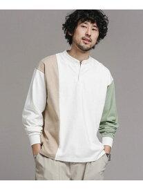 【SALE/10%OFF】nano・universe クレイジーバンドラガーシャツ ナノユニバース カットソー Tシャツ【送料無料】