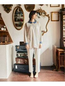 【SALE/50%OFF】une nana cool Colorful windowpane パジャマ ウンナナクール インナー/ナイトウェア ルームウェア/その他 ホワイト ピンク