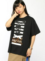 X-girl x NONAGON FACE S/S BIG TEE