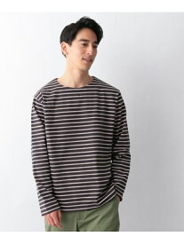 【SALE/50%OFF】GLOBAL WORK (M)ボーダーバスクTee グローバルワーク カットソー Tシャツ ネイビー イエロー