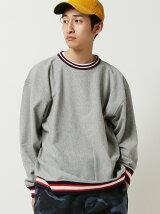 CHAMPION × BEAMS / 別注 ラインリブ ルーズフィット Tシャツ