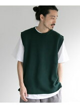 COTTON KNIT CREW VEST