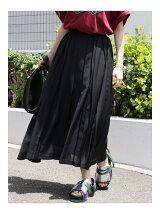 Voile Pleats Long Skirt
