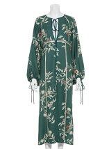 和柄プリントドレス