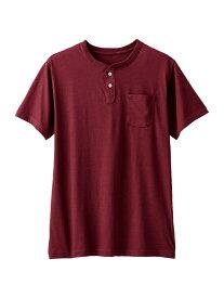 【SALE/20%OFF】SPENDY'S Store ヘンリーネック半袖ポケットTシャツ スペンディーズストア カットソー Tシャツ ホワイト ブラック ネイビー イエロー グレー レッド