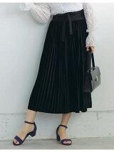 選べるベロアプリーツスカート/ブラック