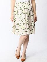 【W】大花プリントスカート