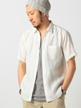 ビーミング by ビームス / リネン レギュラーカラー ショートスリーブシャツ BEAMS