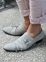 ドレープ3連ベルト短靴