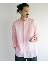 Vincent et Mireille BAND COLLAR SHIRTS LINEN/CH