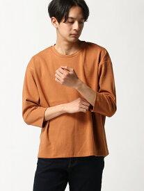 【SALE/20%OFF】SPENDY'S Store 綿ポンチ8分袖BIGTシャツ スペンディーズストア カットソー Tシャツ オレンジ グリーン グレー パープル ブラック ホワイト