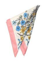 フラワープリントスカーフ