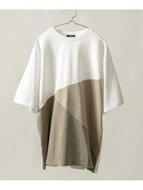 【SALE/30%OFF】ITEMS トリコロール半袖Tシャツ アーバンリサーチアイテムズ カットソー Tシャツ ホワイト ブルー パープル