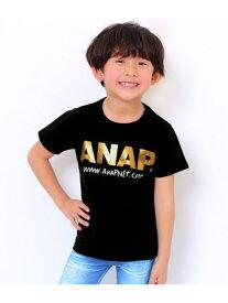 【SALE/31%OFF】ANAP KIDS ANAP KIDS/手書きアドレスロゴTee アナップ カットソー キッズカットソー ブラック カーキ イエロー ピンク ホワイト