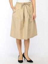 (W)タイプライターギャザースカート