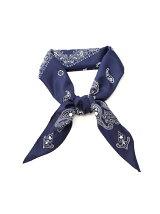 バンダナプリントひし形スカーフ