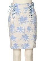 PALM TREE COTTON Skirt