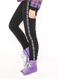 ZIDDY サイドライン スーパー ストレッチ レギンス パンツ(130~160cm) ベベ オンライン ストア パンツ/ジーンズ フルレングス ブラック ホワイト ベージュ