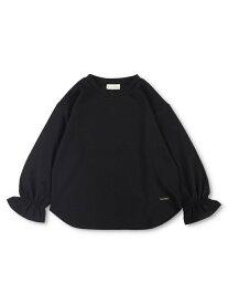 branshes 【WEB限定】キャンディースリーブ長袖Tシャツ ブランシェス カットソー Tシャツ ブラック ホワイト ピンク パープル