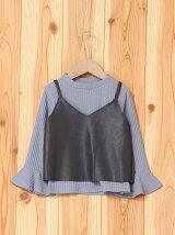 Tシャツ×合皮キャミセット