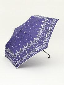 【SALE/37%OFF】Afternoon Tea スカラップレース柄晴雨兼用折りたたみ傘雨傘 アフタヌーンティー・リビング ファッショングッズ 日傘/折りたたみ傘 ネイビー ピンク ホワイト